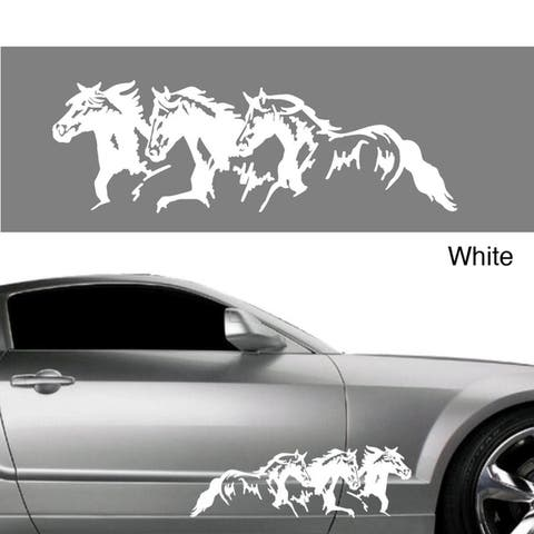 Horse Trio Vinyl Vehicle Graphic Decal Set