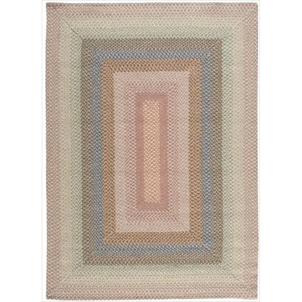 Hand-Woven Craftworks Braided Coral Multicolor Rug (5' x 7') - 5' x 7'