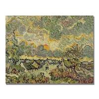 Vincent Van Gogh 'Autumn Landscape' Canvas Art - Multi