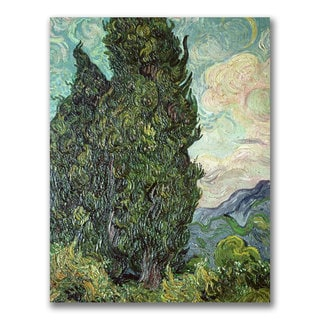 Vincent Van Gogh 'Cypresses,1889' Canvas Art