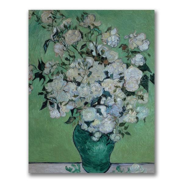 Vincent Van Gogh 'Vase of Roses' Canvas Art
