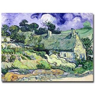 Vincent van Gogh 'Cottages at Auvers-sur-Oise' Canvas Art