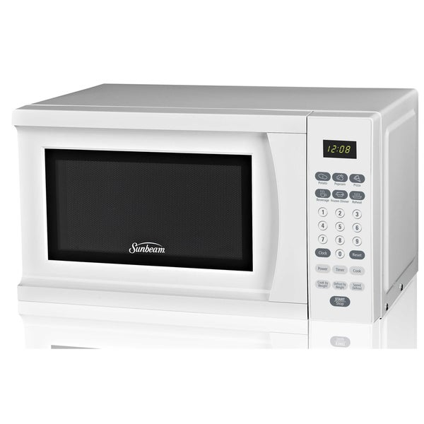 Shop Sunbeam Sgs90701w White Microwave Oven Free