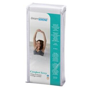 DreamSerene Comfort Terry Pillow Protectors (Set of 2)