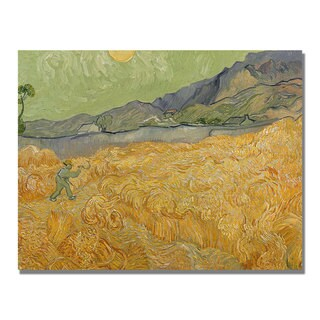 Vincent Van Gogh 'Wheatfields with Reaper' Canvas Art