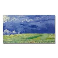 Vincent Van Gogh 'Wheatfields Under Thundercloud' Canvas Art