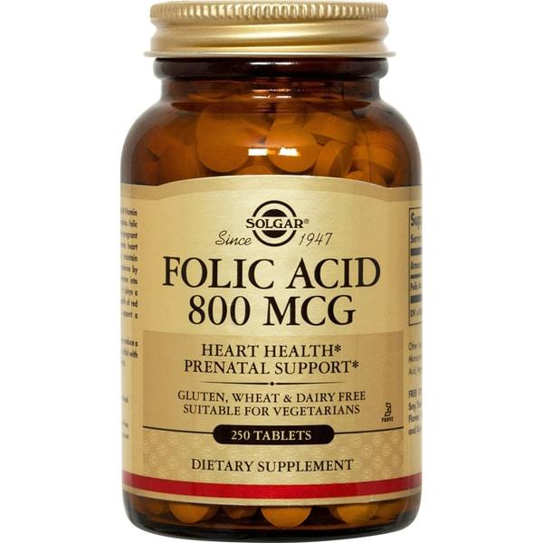 Solgar Folic Acid Tablets (250 Tablets)