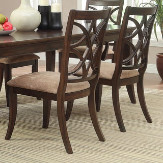 TRIBECCA HOME Cheshire Rich Espresso Traditional Dining Chair (Set of 2)