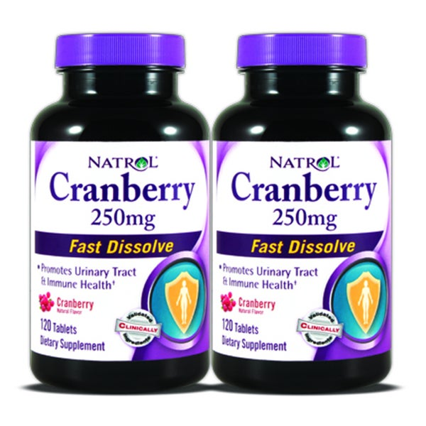 Natrol Cranberry 250mg Fast Dissolve (240 Tablets) (Pack of 2)
