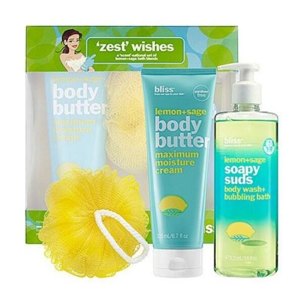 Bliss Zest Wishes Lemon + Sage 3-piece Gift Set