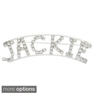Detti Originals Silver 'J Collection' Crystal Name Pin