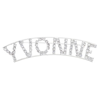 Detti Originals Silver 'VYONNE' Crystal Name Pin