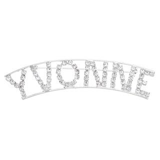 Detti Originals Silver 'VYONNE' Crystal Name Pin