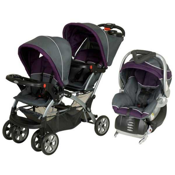 Shop Baby Trend Sit N Stand Double Stroller Travel System