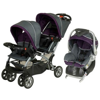Baby Trend Sit-N-Stand Double Stroller Travel System in Elixer