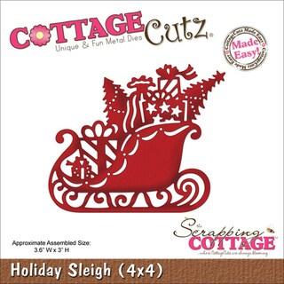 """CottageCutz Die 4""""X4""""-Holiday Sleigh"""