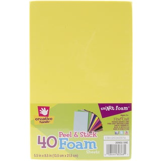 "Creative Hands Adhesive Foam Sheets 5""X7"" 40/Pkg-Multi"