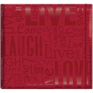 "Gloss Scrapbook 12""X12""-Live Love Laugh-Red"