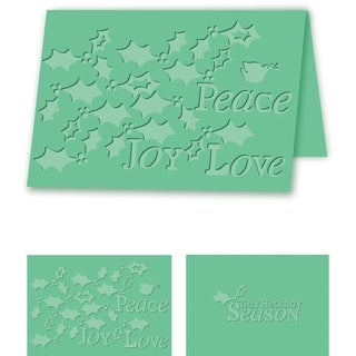 eBosser Embossing Folders A4 Size-Holiday Holly