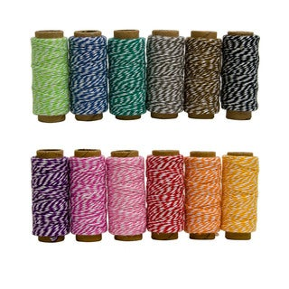 Hemptique Cotton Bakers Twine Mini Spool Bag Set 2 Ply 6/Pkg (2 options available)
