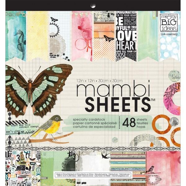 "MAMBI Sheets Specialty Cardstock 12""X12"" 48/Sheets-Mixed Media"