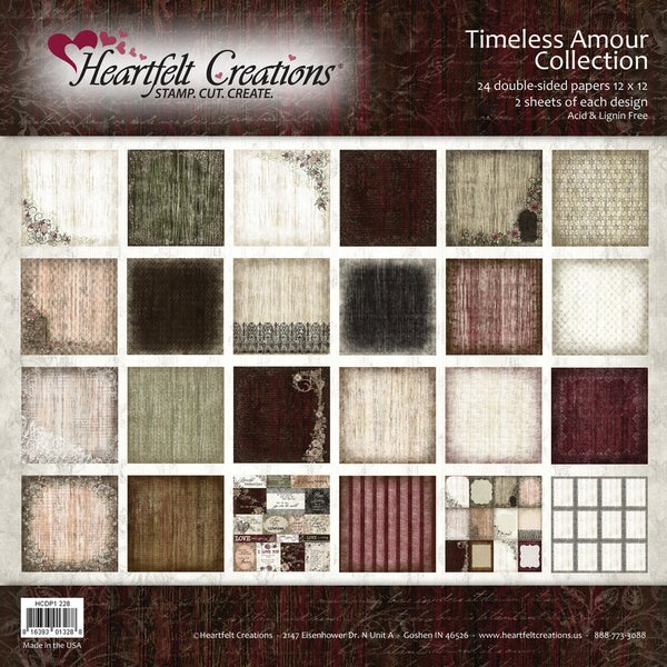 """Heartfelt Double-Sided Paper Collection 12""""X12"""" 48/Sheets-Timeless Amour"""