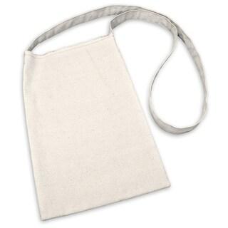 """Canvas Medium Shoulder Bag 8-1/2""""X13""""-Natural"""