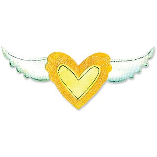 Sizzix Movers & Shapers Magnetic Dies 2/Pkg-Heart & Wing