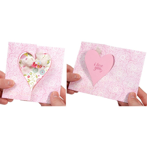 Sizzix Movers & Shapers Large Base Die-Card, Heart Flip-Its