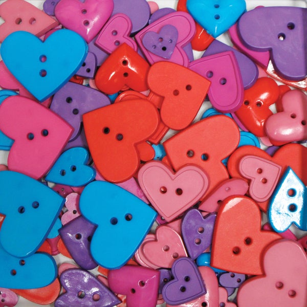 Favorite Findings Big Bag Of Buttons-Hearts 3.5oz