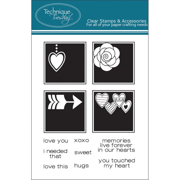 "Technique Tuesday Clear Stamps 3""X4""-Messages From The Heart"