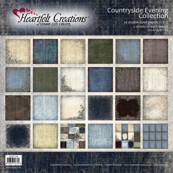 "Heartfelt Double-Sided Paper Collection 12""X12"" 48/Sheets-Countryside Evening"