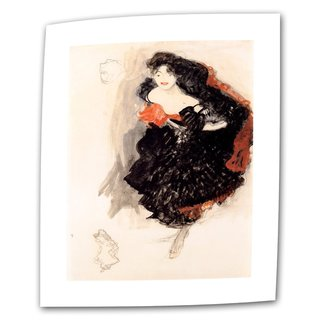 Gustav Klimt 'Study of Judith' Flat Canvas