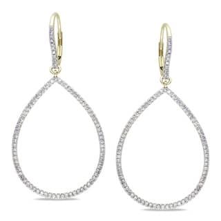 Miadora Signature Collection 14k Yellow Gold 4/5ct TDW Diamond Teardrop Earrings|https://ak1.ostkcdn.com/images/products/7671651/7671651/New-Miadora-14k-Yellow-Gold-4-5ct-TDW-Diamond-Dangle-Earrings-G-H-SI1-SI2-P15083203.jpg?impolicy=medium