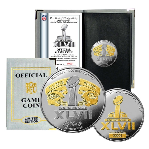 Super Bowl XLVII Official Two-tone Flip Coin