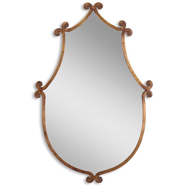 Uttermost Ablenay Gold Burnished Framed Mirror Free