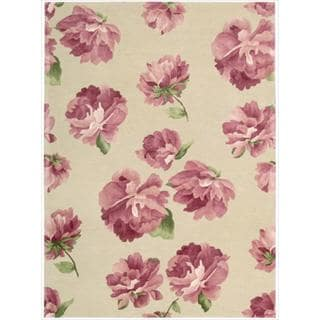 Hand-tufted Modern Elegance Rose Rug (5'6 x 7'5)