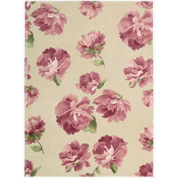 Hand-tufted Modern Elegance Rose Rug (3'6 x 5'6)