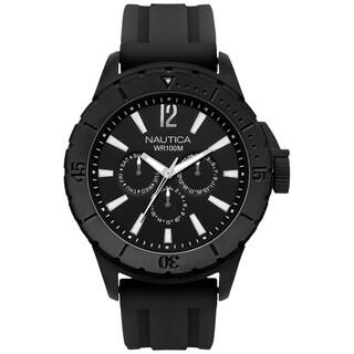 Nautica Men's 'NSR-05 Multi' Black Dial Watch
