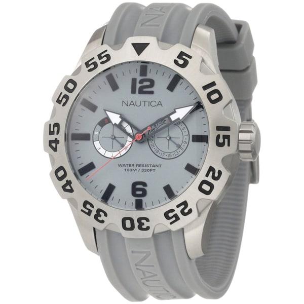 Nautica Men's Grey Stainless Steel Watch