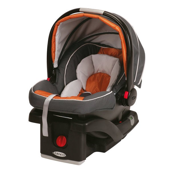 Graco SnugRide 35 Click Connect Infant Car Seat in Tangerine