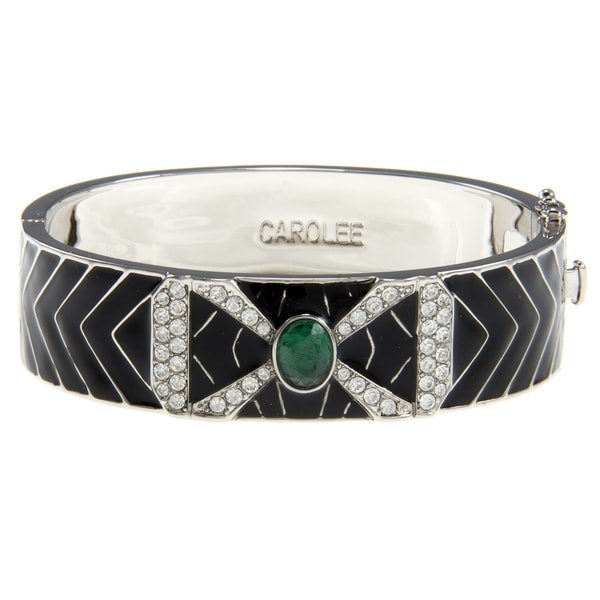 Carolee Art Deco Hinged Bangle Bracelet