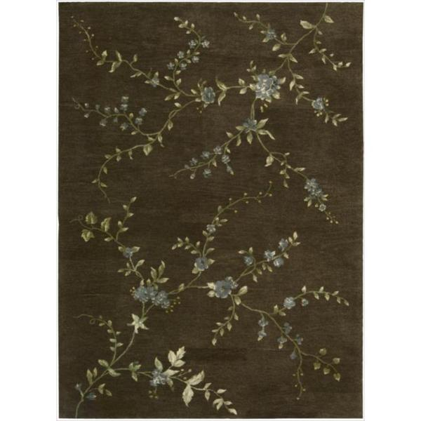 Hand-tufted Modern Elegance Floral Brown Wool Rug (3'6 x 5'6)