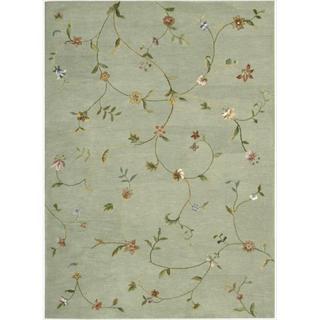 Hand-tufted Modern Elegance Sage Wool Rug (8' x 11')
