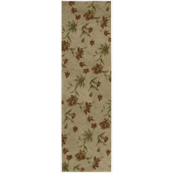 Hand-tufted Modern Elegance Oat Wool Runner Rug (2'3 x 8')