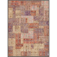 """Herat Oriental Pak Persian Hand-knotted Patchwork Wool Rug (7'10 x 10'9) - 7'10"""" x 10'9"""""""