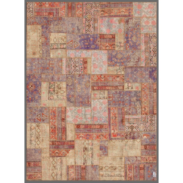"Herat Oriental Pak Persian Hand-knotted Patchwork Wool Rug - 7'10"" x 10'9"""