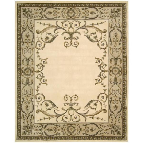 Nourison Hand-tufted Versailles Palace Ivory Rug (7'6 x 9'6)