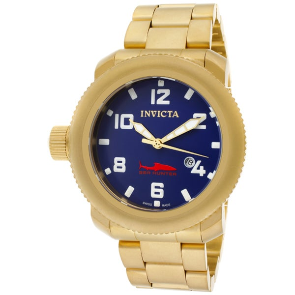 Invicta Men's 'Russian Diver/Sea Hunter' 18k goldplated SS Watch