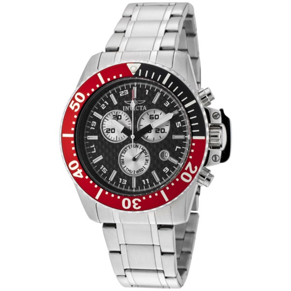 Invicta Men's 'Pro Diver' Stainless Steel Watch